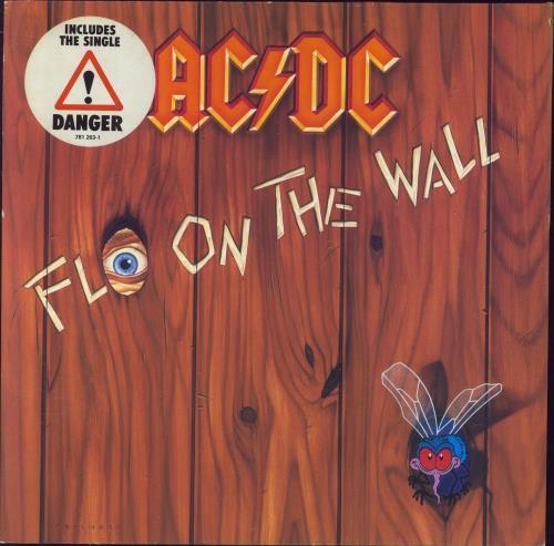 AC/DC Fly On The Wall - Hype Stickered + Inner vinyl LP album (LP record) German ACDLPFL630563