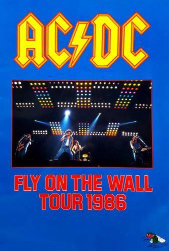 AC/DC Fly On The Wall Tour 1986 - Autographed tour programme UK ACDTRFL701596