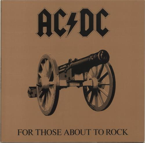 AC/DC For Those About To Rock (We Salute You) vinyl LP album (LP record) US ACDLPFO691603