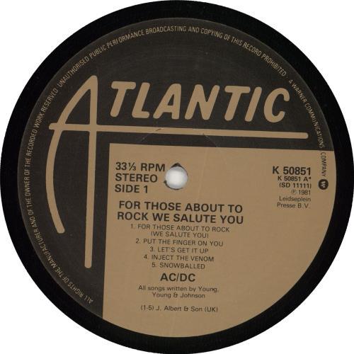 AC/DC For Those About To Rock We Salute You - EX vinyl LP album (LP record) Dutch ACDLPFO728016
