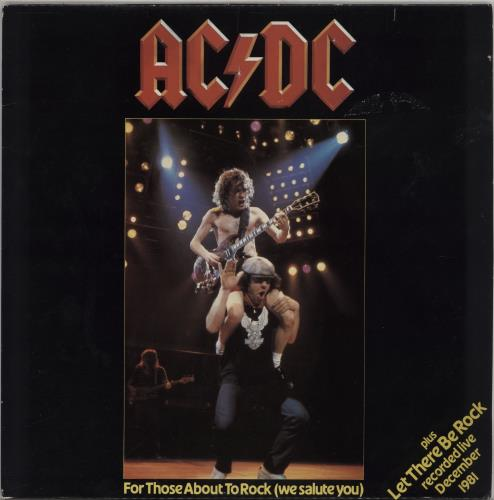 "AC/DC For Those About To Rock 12"" vinyl single (12 inch record / Maxi-single) UK ACD12FO48088"