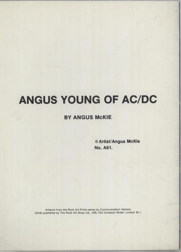 AC/DC Greeting Card memorabilia UK ACDMMGR675370