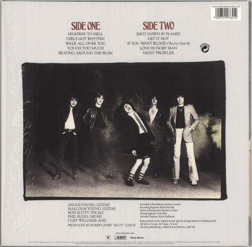 AC/DC Highway To Hell - 180 Gram vinyl LP album (LP record) UK ACDLPHI677257