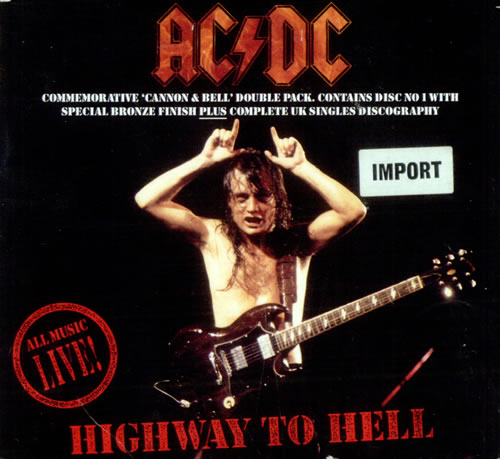 ac dc highway to hell uk cd single cd5 5 9497. Black Bedroom Furniture Sets. Home Design Ideas