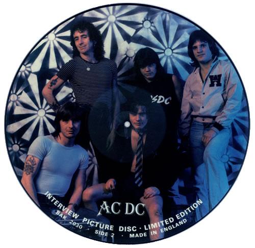 AC/DC Interview Picture Disc picture disc LP (vinyl picture disc album) UK ACDPDIN436511