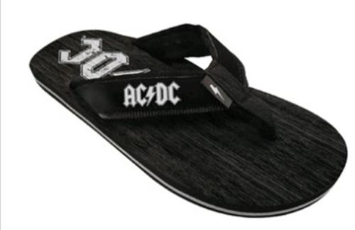 fb92daef7 AC DC Mens Logo Sandals - Large (Officially licensed footwear with the AC DC  logo printed on the strap and on the sole. Size - Large) Size LARGE   9 - 11  UK ...