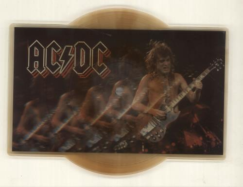 AC/DC Nervous Shakedown - EX shaped picture disc (picture disc vinyl record) UK ACDSHNE32646