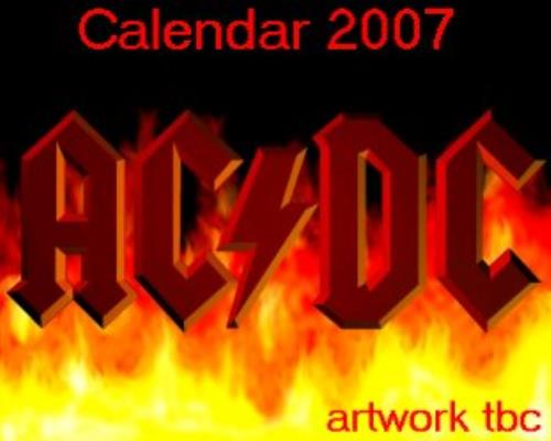 AC/DC Official Calendar 2007 calendar UK ACDCAOF353616