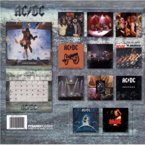 AC/DC Official Calendar 2008 calendar UK ACDCAOF394367