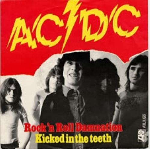 "AC/DC Rock 'n Roll Damnation 7"" vinyl single (7 inch record) Dutch ACD07RO131490"