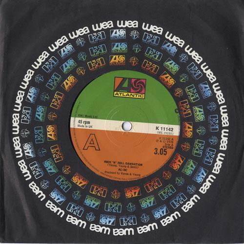 "AC/DC Rock 'n Roll Damnation 7"" vinyl single (7 inch record) UK ACD07RO92039"