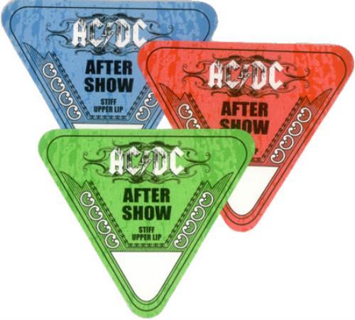 AC/DC Stiff Upper Lip Tour Passes tour pass US ACDTPST428043