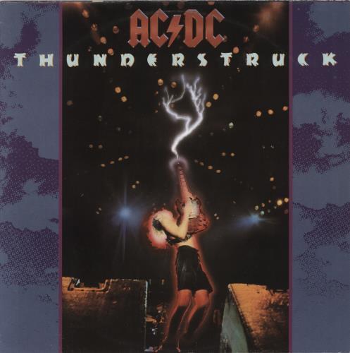 "AC/DC Thunderstruck - Poster Sleeve - EX 12"" vinyl single (12 inch record / Maxi-single) UK ACD12TH766415"