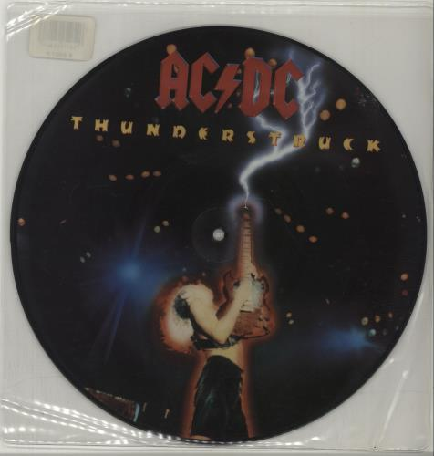"AC/DC Thunderstruck 10"" Vinyl Picture Disc (10"" Record Single) UK ACD1PTH12561"