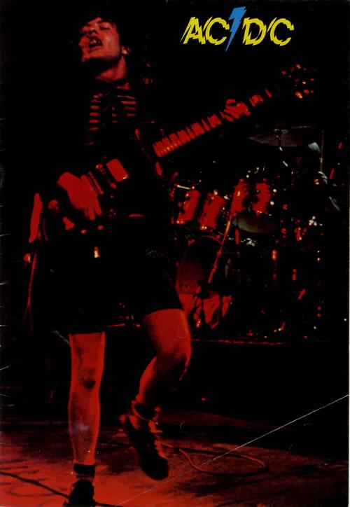 AC/DC UK Tour '78 + Ticket tour programme UK ACDTRUK110784