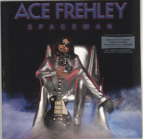 Ace Frehley Spaceman - 180gm Magenta Vinyl + CD - Sealed vinyl LP album (LP record) UK ACELPSP713344