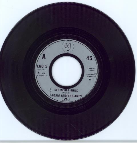 """Adam & The Ants Deutscher Girls - Jukebox 7"""" vinyl single (7 inch record) UK ANT07DE776983"""