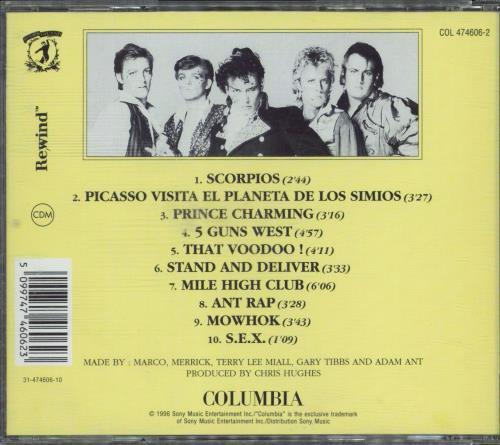 Adam & The Ants Prince Charming CD album (CDLP) UK ANTCDPR770206
