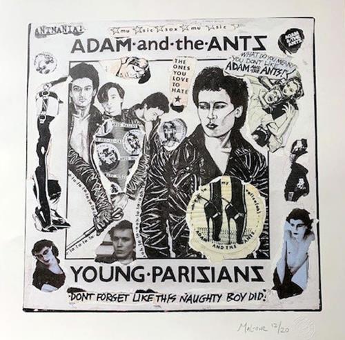 Adam & The Ants Young Parisians - Punk Art Print artwork UK ANTARYO718866