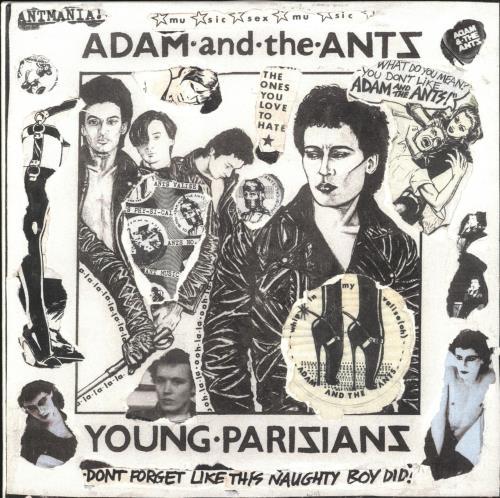 "Adam & The Ants Young Parisians - Punk Art sleeve 7"" vinyl single (7 inch record) UK ANT07YO708065"