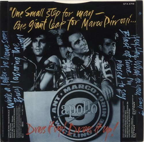 "Adam Ant Apollo 9 (Splashdown Re-Mix) 12"" vinyl single (12 inch record / Maxi-single) UK A~A12AP112378"