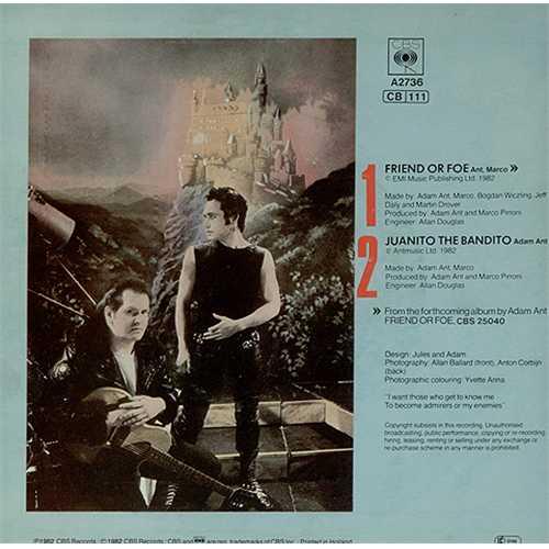 """Adam Ant Friend Or Foe 7"""" vinyl single (7 inch record) Dutch A~A07FR409020"""