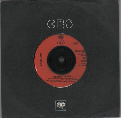 """Adam Ant Friend Or Foe 7"""" vinyl single (7 inch record) UK A~A07FR652764"""