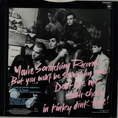 """Adam Ant Vive Le Rock 12"""" vinyl single (12 inch record / Maxi-single) UK A~A12VI107545"""