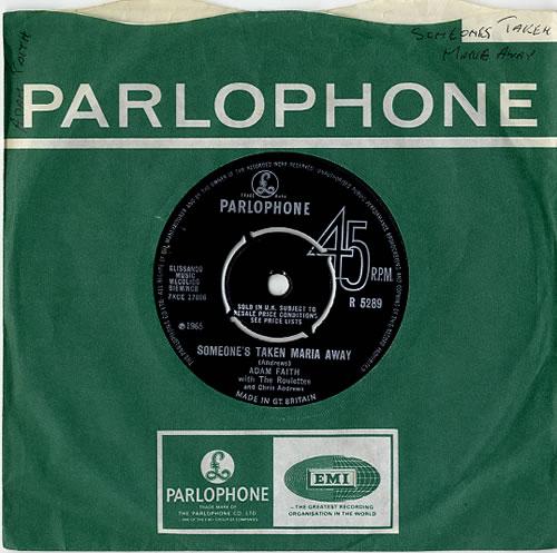 "Adam Faith Someone's Taken Maria Away 7"" vinyl single (7 inch record) UK ADF07SO557012"