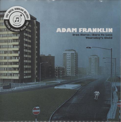 "Adam Franklin Iron Horse / Born To Lose - RSD17 - Blue Vinyl 7"" vinyl single (7 inch record) UK 2MF07IR764665"