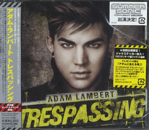 Adam Lambert Trespassing - Sealed CD album (CDLP) Japanese AKZCDTR572532