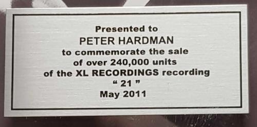 Adele 21 - Triple Platinum award disc Canadian AYXAWTR694077