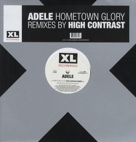 "Adele Hometown Glory (High Contrast Remixes) 12"" vinyl single (12 inch record / Maxi-single) UK AYX12HO439127"