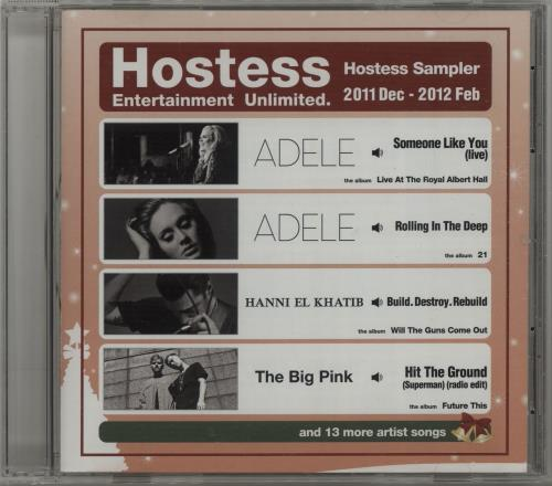 Adele Hostess Sampler: Dec 2011 - Feb 2012 Japanese Promo CD album (CDLP)
