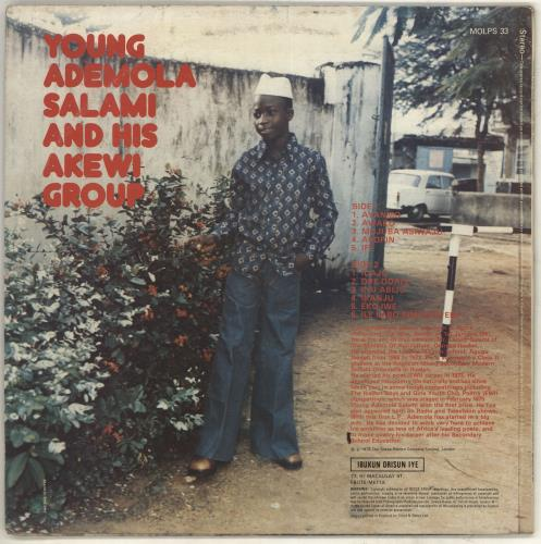 Ademola Salami Young Ademola Salami And His Akewi Group vinyl LP album (LP record) UK ZDJLPYO719213