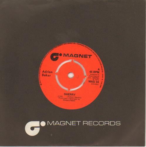 "Adrian Baker Sherry 7"" vinyl single (7 inch record) UK AY407SH643546"