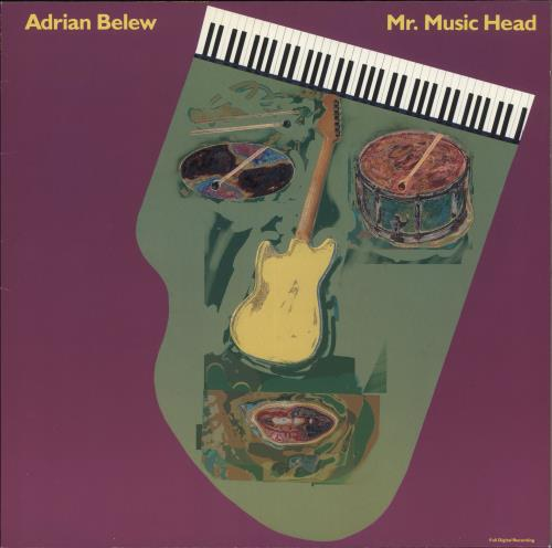 Adrian Belew Mr. Music Head vinyl LP album (LP record) German BEWLPMR718500