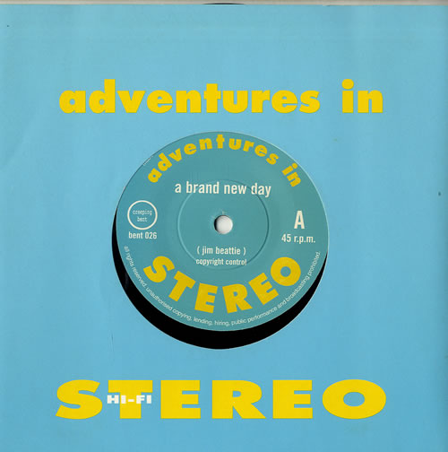 """Adventures In Stereo A Brand New Day 7"""" vinyl single (7 inch record) UK I.S07AB559990"""