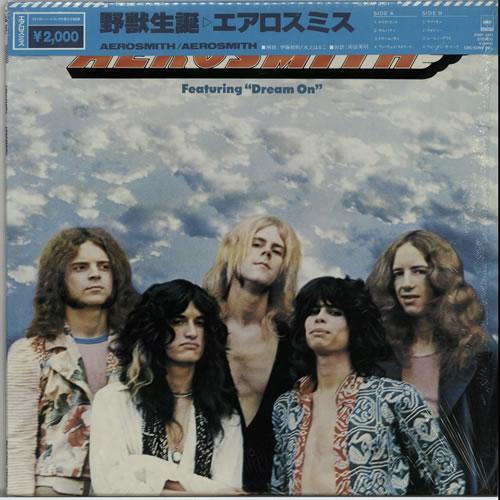 Aerosmith Aerosmith + Top Obi vinyl LP album (LP record) Japanese AERLPAE627914