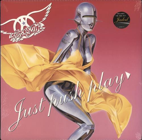 Aerosmith Just Push Play - Sealed vinyl LP album (LP record) US AERLPJU707815