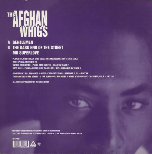 "Afghan Whigs Gentlemen + Poster 12"" vinyl single (12 inch record / Maxi-single) UK AFG12GE770354"