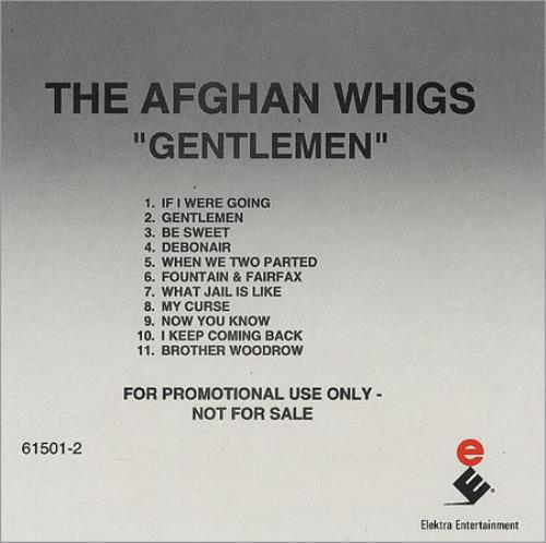 Afghan Whigs Gentlemen CD album (CDLP) US AFGCDGE207431