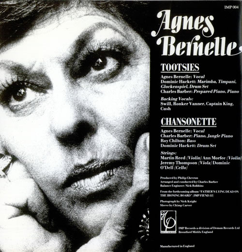 """Agnes Bernelle Tootsies (The Juvenile Delinquent) 7"""" vinyl single (7 inch record) UK A2N07TO526995"""
