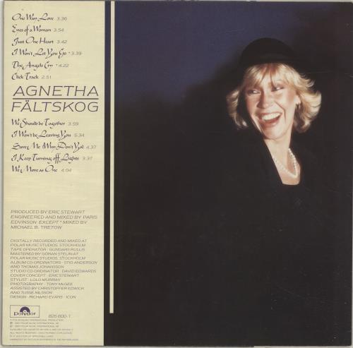 Agnetha Fältskog Eyes Of A Woman vinyl LP album (LP record) Dutch AGNLPEY697517