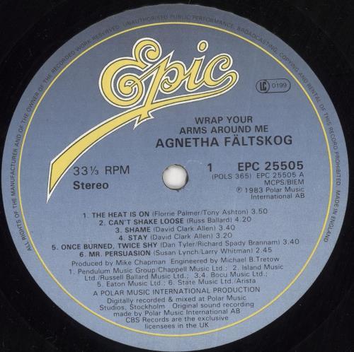 Agnetha Fältskog Wrap Your Arms Around Me - Gold Promo Stamp vinyl LP album (LP record) UK AGNLPWR743197