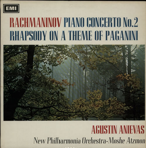 Agustin Anievas Rachmaninov: Piano Concerto No. 2 / Rhapsody On A Theme Of Paganini - s/c vinyl LP album (LP record) UK I12LPRA630818