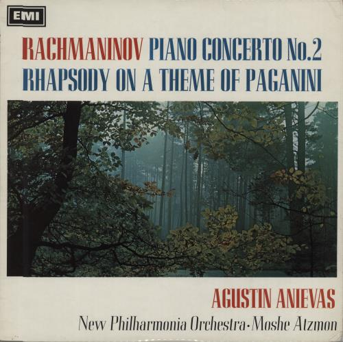 Agustin Anievas Rachmaninov: Piano Concerto No. 2 / Rhapsody on a Theme of Paganini vinyl LP album (LP record) UK I12LPRA664803