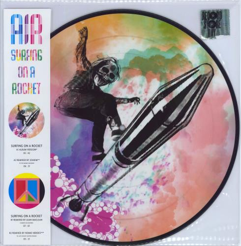 "Air (French) Surfing On A Rocket 12"" vinyl picture disc 12inch picture disc record UK AIR2PSU730338"