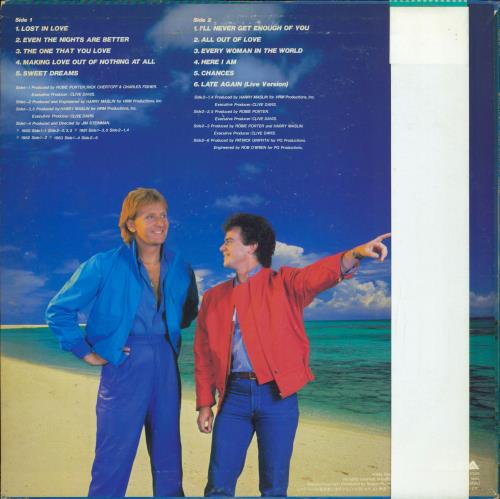 Air Supply Greatest Hits vinyl LP album (LP record) Japanese AISLPGR718652