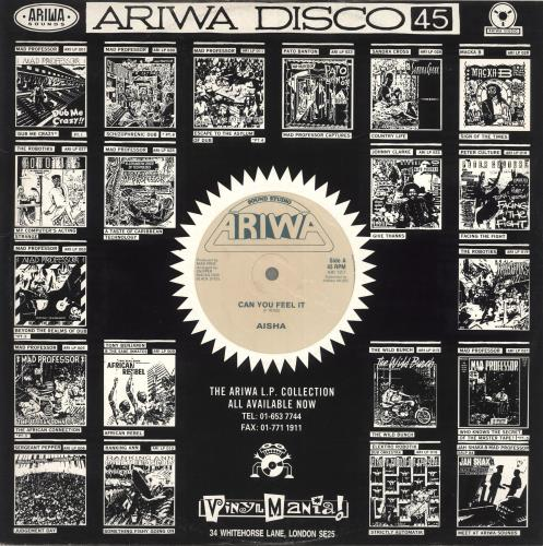 "Aisha Can You Feel It 12"" vinyl single (12 inch record / Maxi-single) UK Q7S12CA711311"